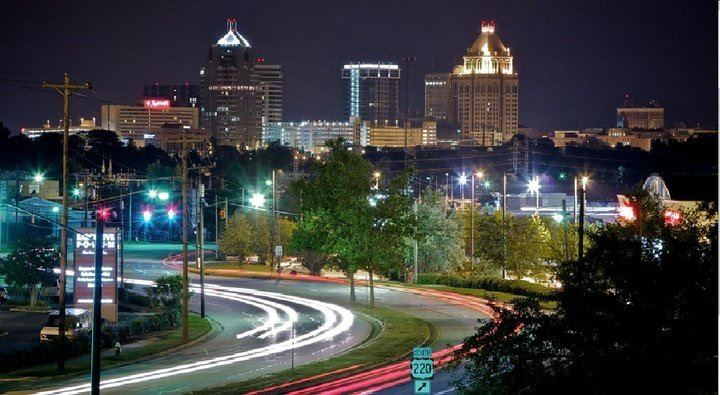 The Cityscape Of Greensboro NC. By Turboknowledge