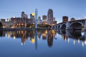 Minneapolis. image of Minneapolis downtown at twilight