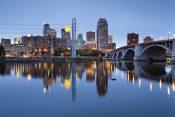 Minneapolis. image of Minneapolis downtown at twilight