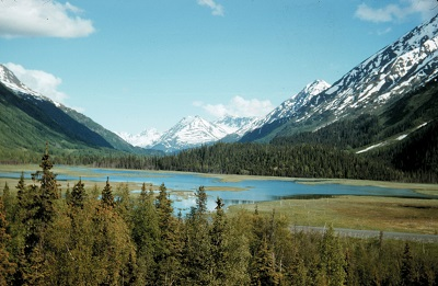 Lakes and mountains on the Kenai Peninsula