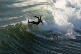 Surfer Surfing at Huntington Beach